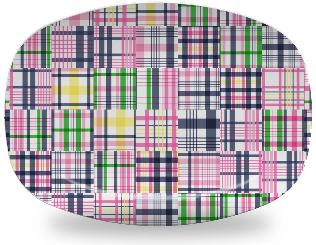 Luxury Easton Madras ThermoSāf® Plate, Platter and Bowl - Oven Safe, Microwave Safe, Dishwasher Safe, BPA Free!