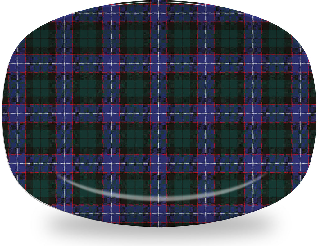 Luxury Hunter Tartan Plaid ThermoSāf® Plate, Platter And Bowl With Optional Monogram - Oven Safe, Microwave Safe, Dishwasher Safe, BPA Free!