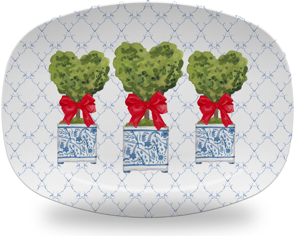 Luxury Topiary Hearts ThermoSāf® Plate, Platter And Bowl - Oven Safe, Microwave Safe, Dishwasher Safe, BPA Free!