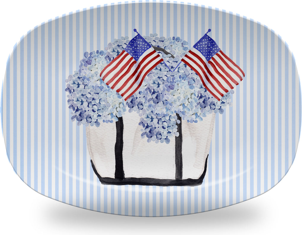 Luxury Patriotic Tote ThermoSāf® Plate, Platter And Bowl - Oven Safe, Microwave Safe, Dishwasher Safe, BPA Free!