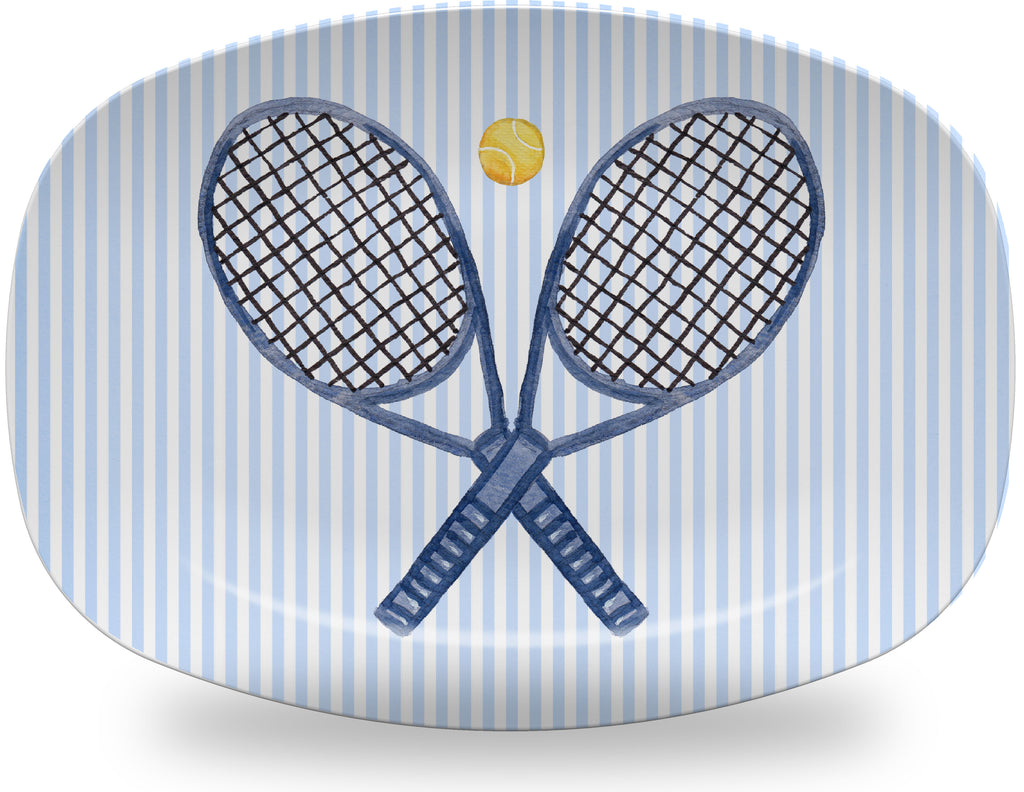Luxury What A Racquet Tennis ThermoSāf® Plate And Platter - Oven Safe, Microwave Safe, Dishwasher Safe, BPA Free!