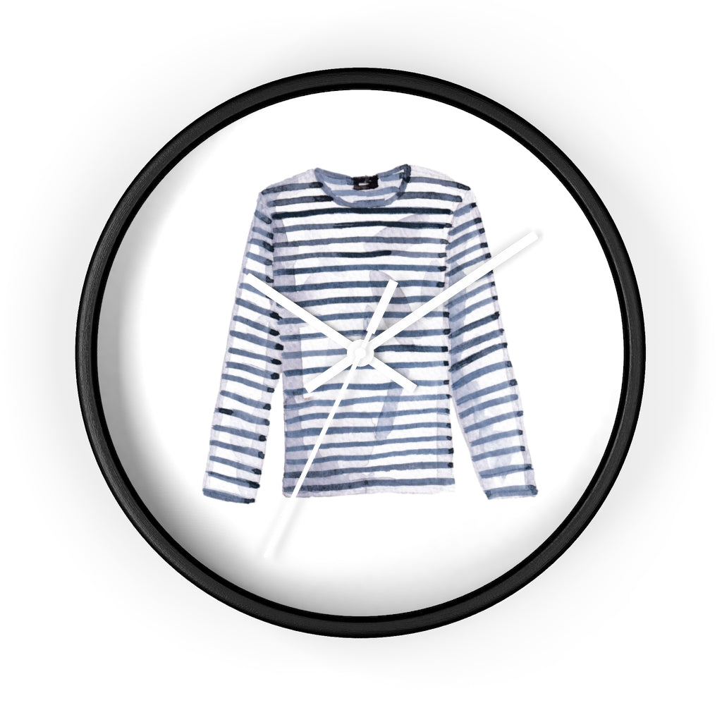 Breton Stripe Shirt Wall Clock