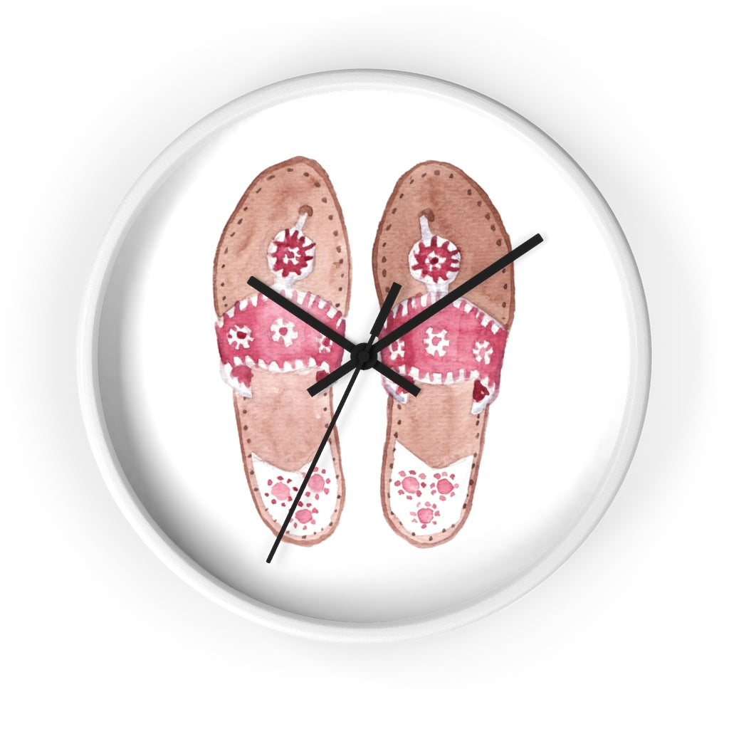 Palm Beach Sandals Wall Clock