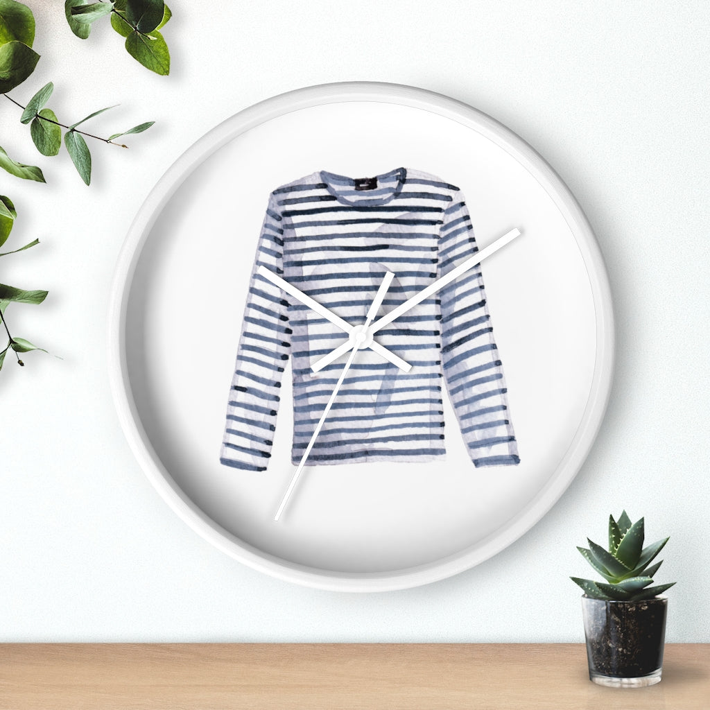 Striped Shirt Wall Clock