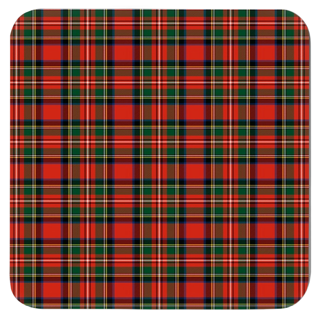 Royal Stewart Tartan Plaid Coasters - Set of Four