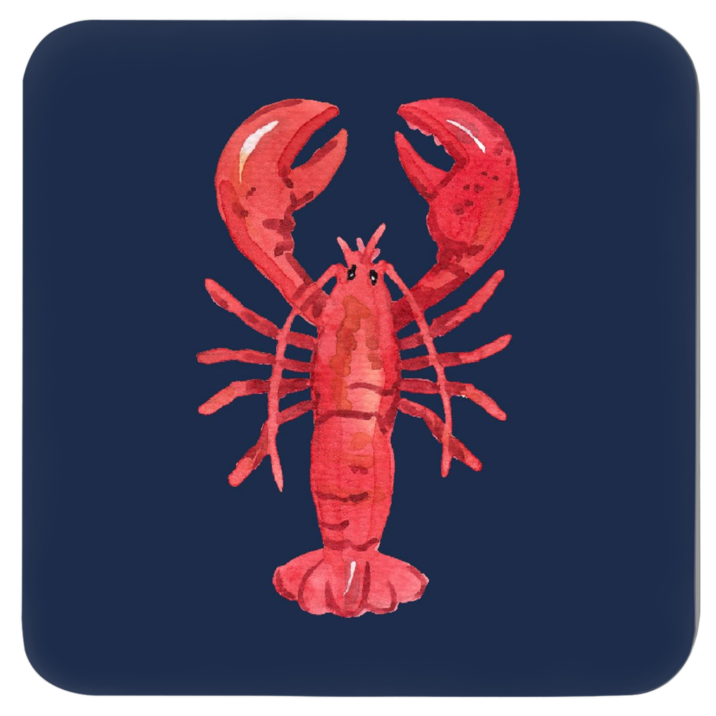 Lively Lobster Coasters - Set of Four Assorted Colors