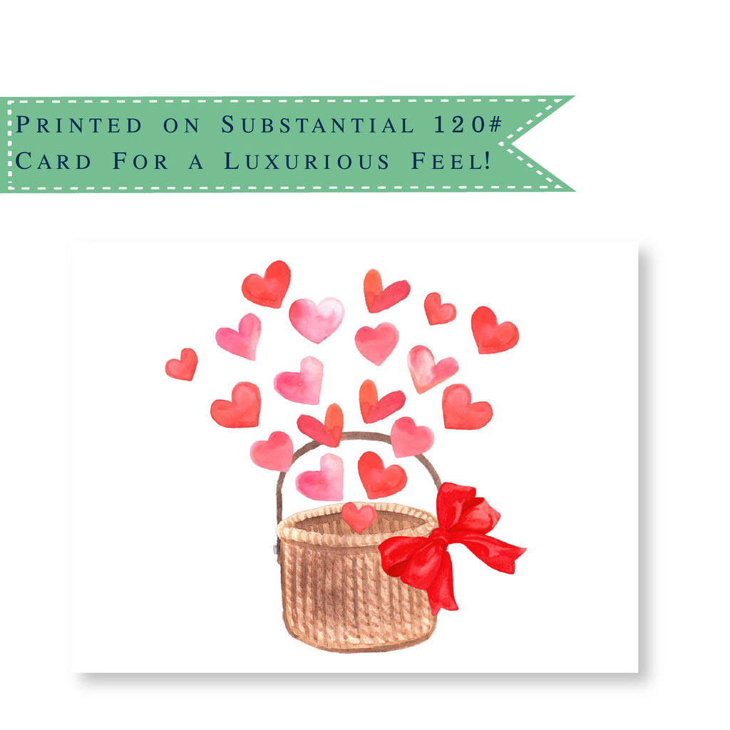 Luxury Basket of Love Folded Notecards