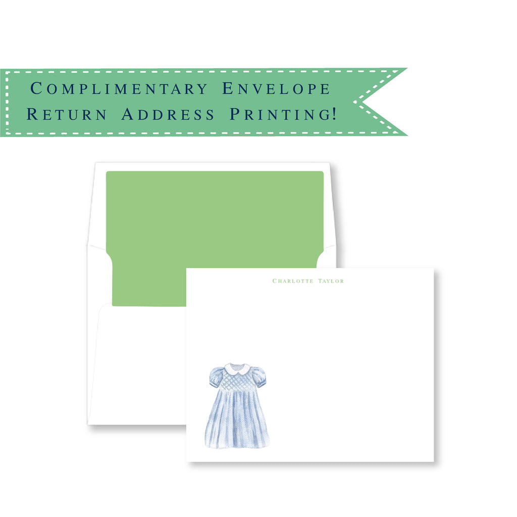 Luxury Little Girl Dress Note Cards