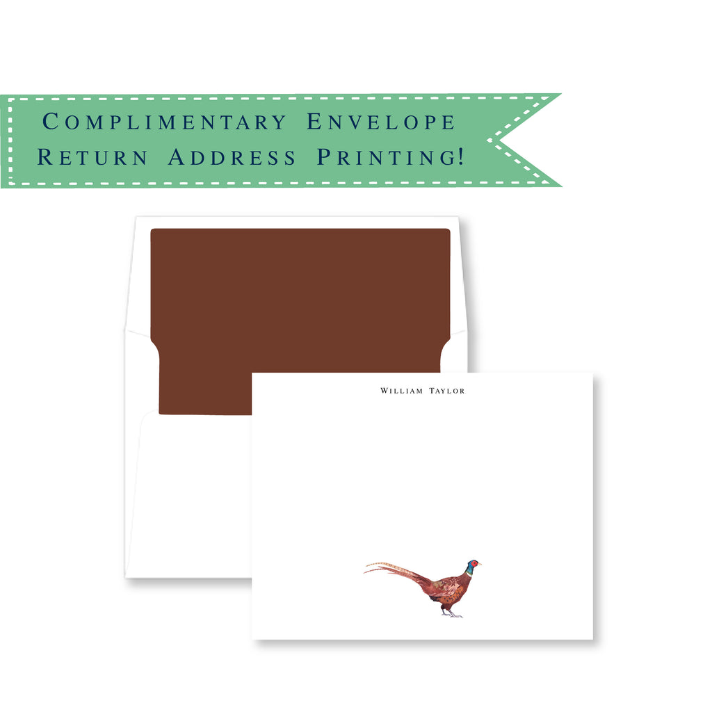 Pheasant Personalized Note Cards
