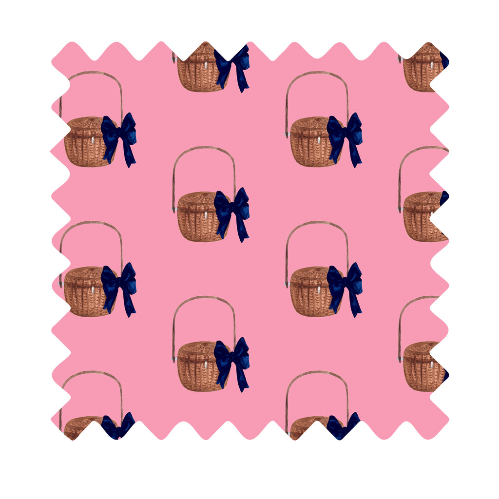 Nantucket Basket Gift Wrapping Paper - Available In 4 Colors