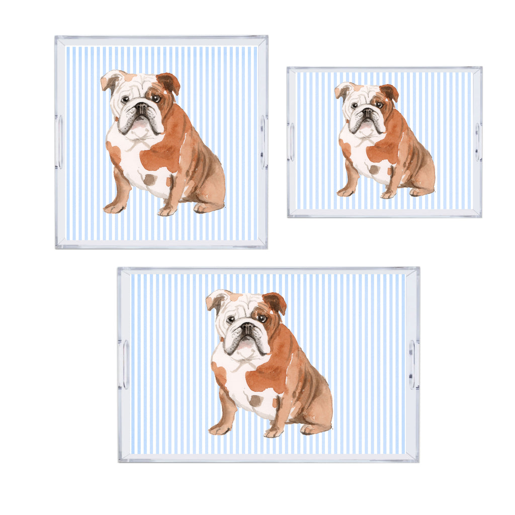 Luxury Reversible Chose Your Dog Acrylic Tray - Available In 3 Sizes - Free Shipping!