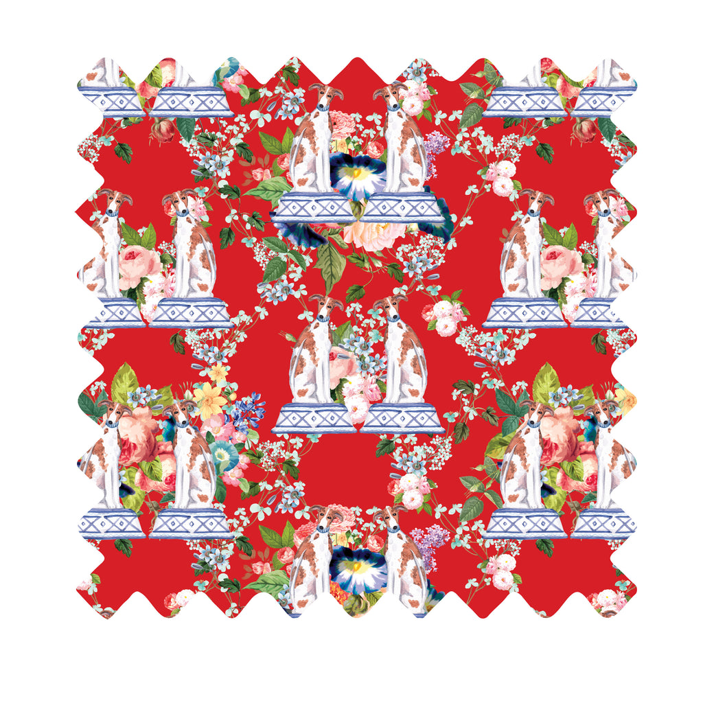 Beacon Hill Chinoiserie Whippets Gift Wrapping Paper