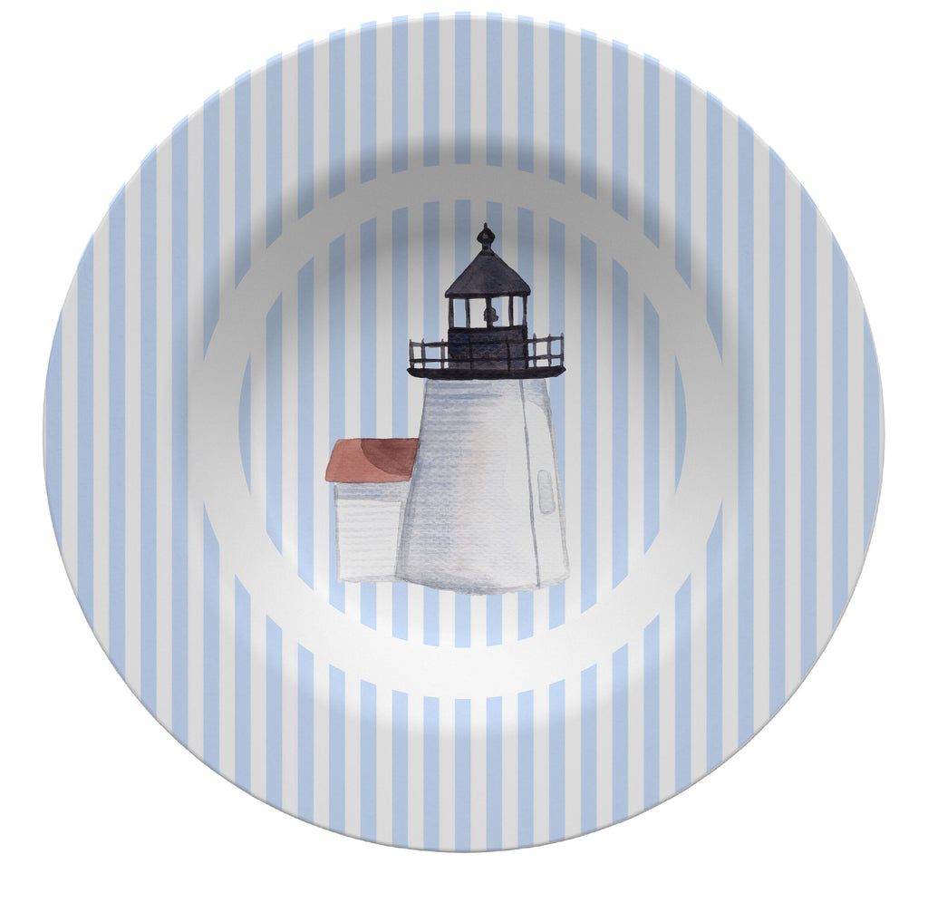 Luxury Nantucket Brant Point Lighthouse ThermoSāf® Plate, Platter And Bowl - Oven Safe, Microwave Safe, Dishwasher Safe, BPA Free!