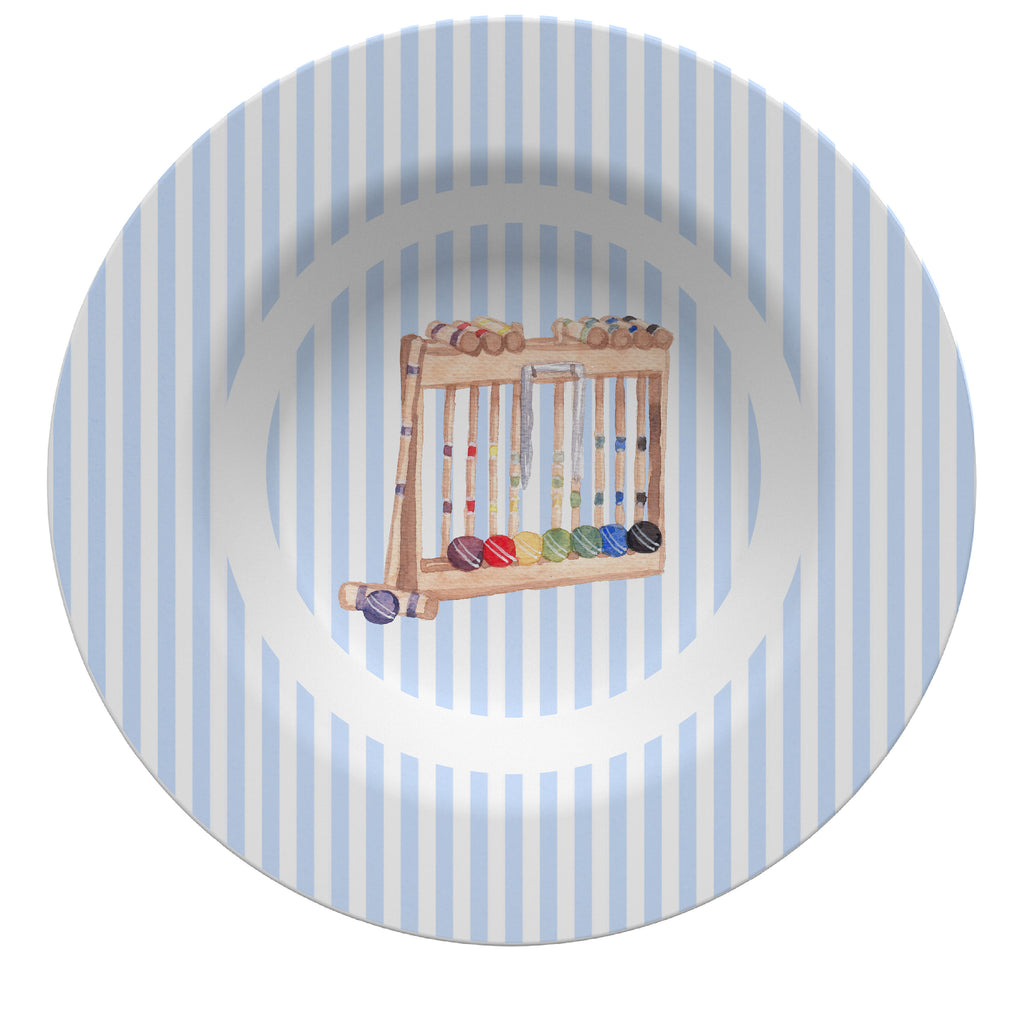 Luxury Croquet ThermoSāf® Plate, Platter and Bowl - Oven Safe, Microwave Safe, Dishwasher Safe, BPA Free!