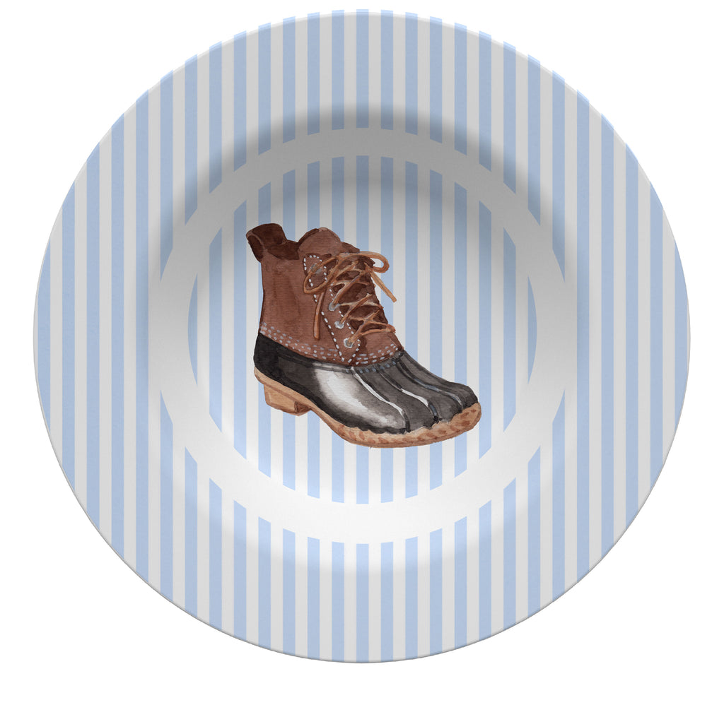 Luxury Duck Boot ThermoSāf® Plate, Platter And Bowl - Oven Safe, Microwave Safe, Dishwasher Safe, BPA Free!