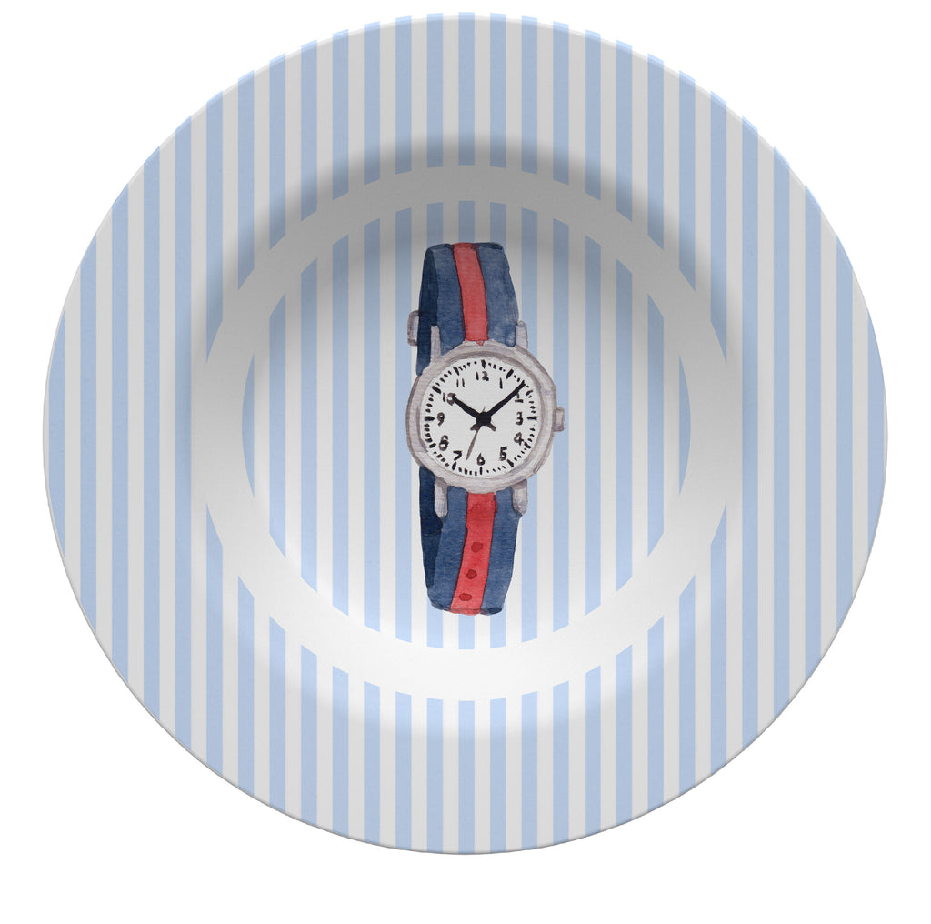 Luxury Grosgrain Watch Madras ThermoSāf® Plate, Platter And Bowl - Oven Safe, Microwave Safe, Dishwasher Safe, BPA Free!