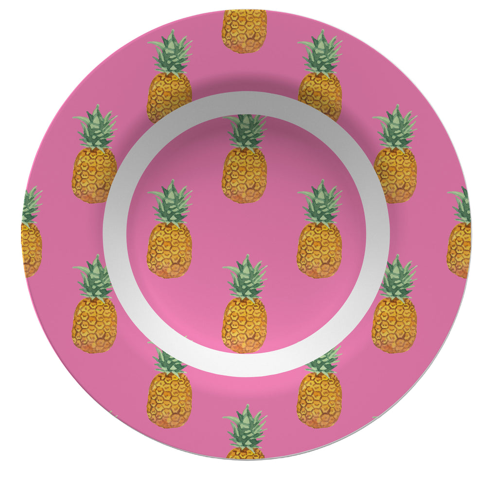 Luxury Pineapple Passion ThermoSāf® Plate, Platter And Bowl - Oven Safe, Microwave Safe, Dishwasher Safe, BPA Free!