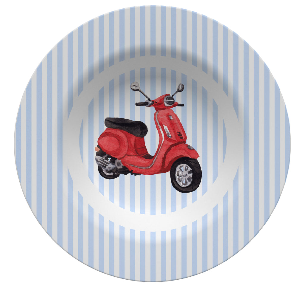 Luxury Scooting Around ThermoSāf® Plate, Platter And Bowl - Oven Safe, Microwave Safe, Dishwasher Safe, BPA Free!