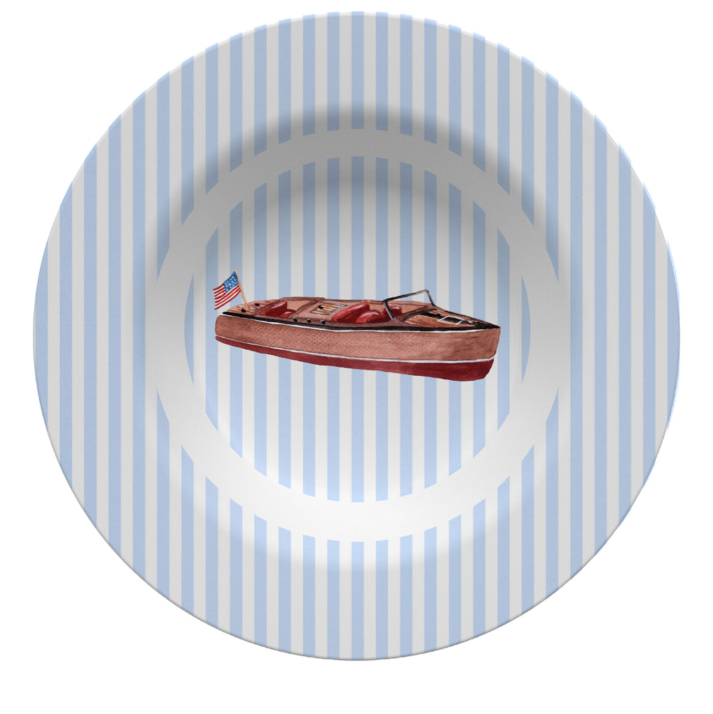 Luxury Speedboat ThermoSāf® Plate, Platter And Bowl - Oven Safe, Microwave Safe, Dishwasher Safe, BPA Free!