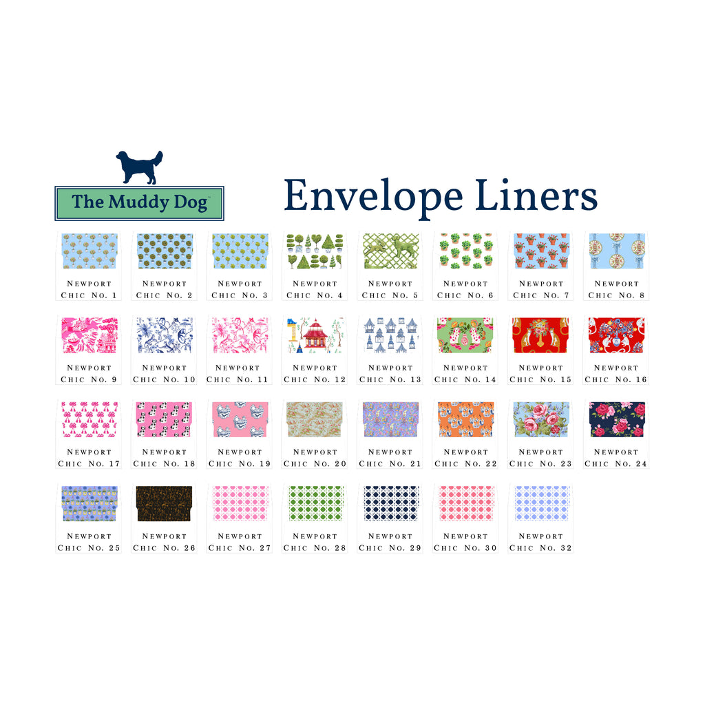 Needlepoint Belt Personalized Note Cards