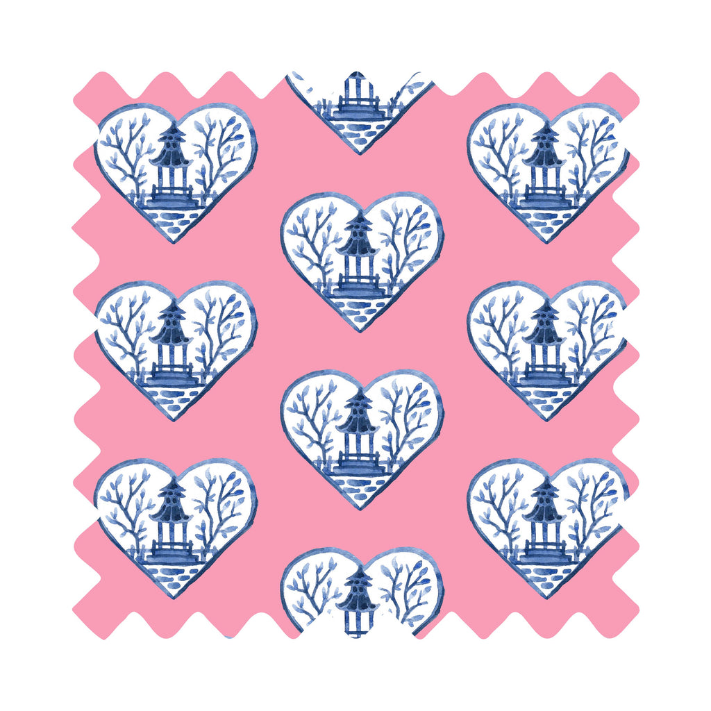 Chinoiserie Hearts Gift Wrapping Paper - Available In 4 Colors
