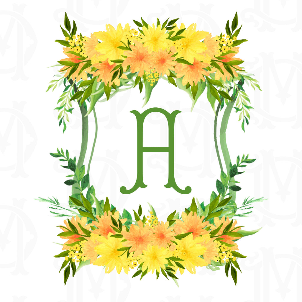 Create Your Own Dahlias Custom Watercolor Crest