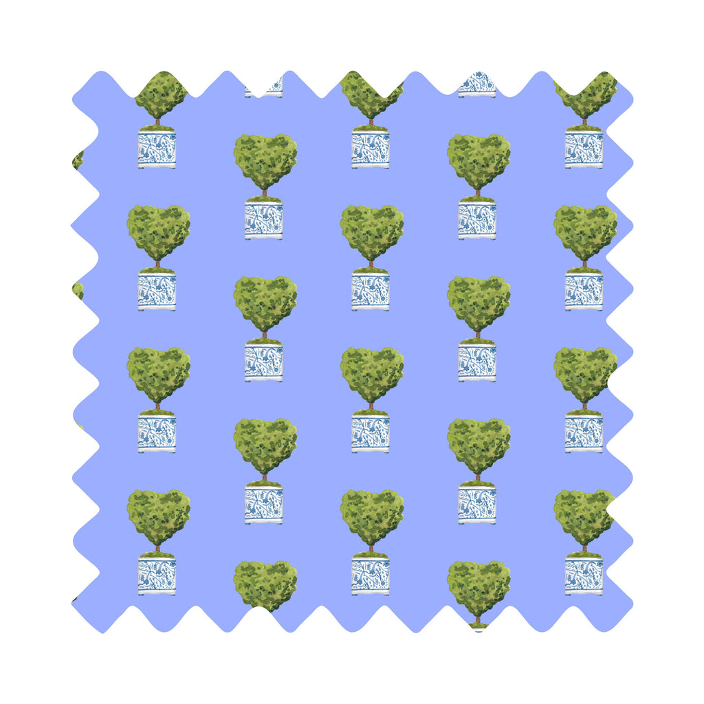 Chinoiserie Topiary Hearts Gift Wrapping Paper - Available In 5 Colors