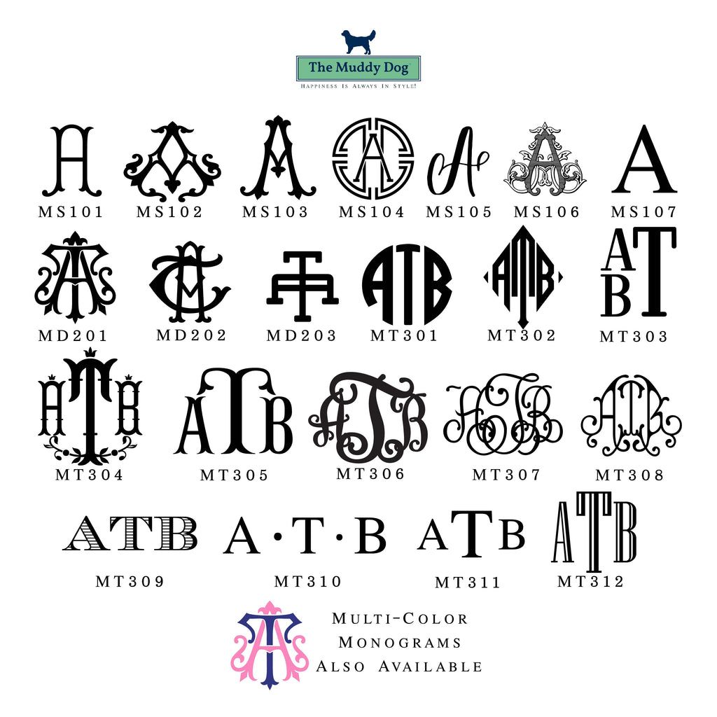Monogram Watercolor Crest