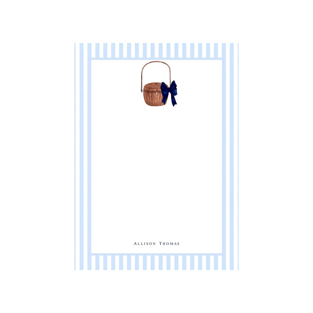 Nantucket Basket Personalized Notepad