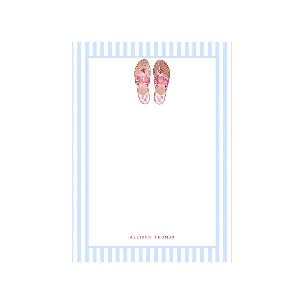 Palm Beach Sandals Personalized Notepad