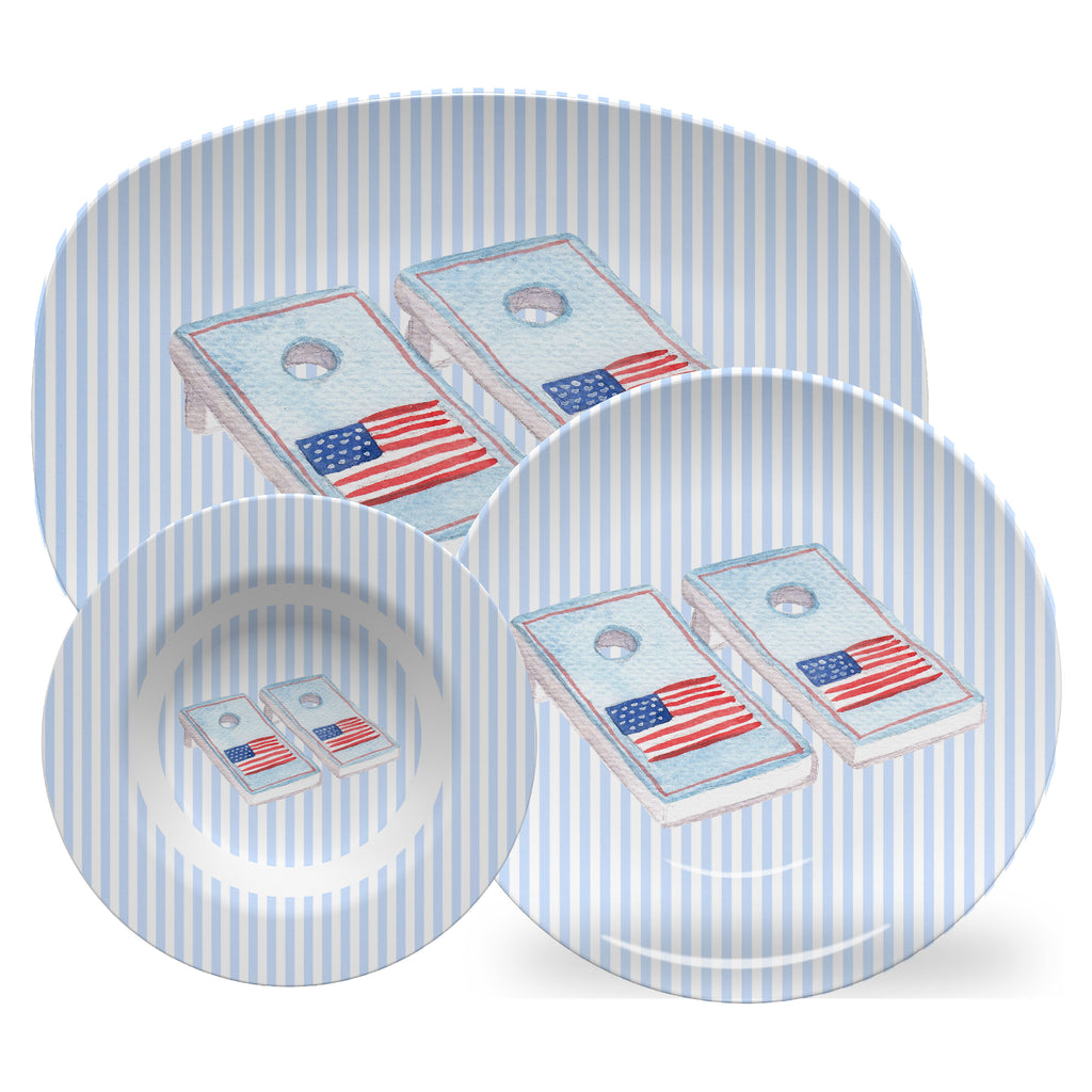 Luxury Cornhole Boards ThermoSāf® Plate, Platter And Bowl - Oven Safe, Microwave Safe, Dishwasher Safe, BPA Free!
