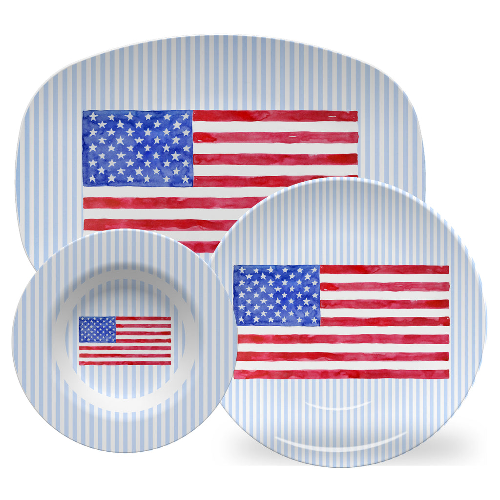 Luxury Land Of The Free ThermoSāf® Plate, Platter And Bowl - Oven Safe, Microwave Safe, Dishwasher Safe, BPA Free!