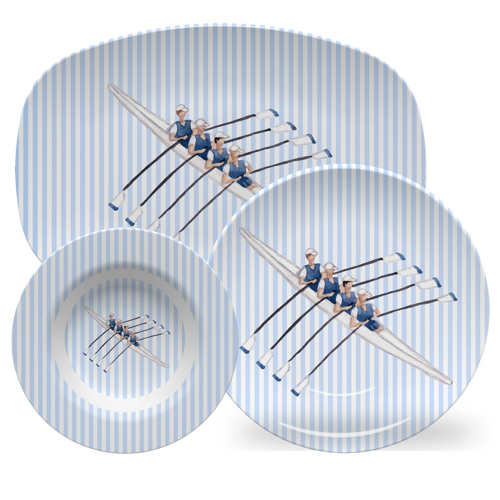 Luxury Henley Regatta Day (Men's And Women's) ThermoSāf® Plate, Platter And Bowl - Oven Safe, Microwave Safe, Dishwasher Safe, BPA Free!