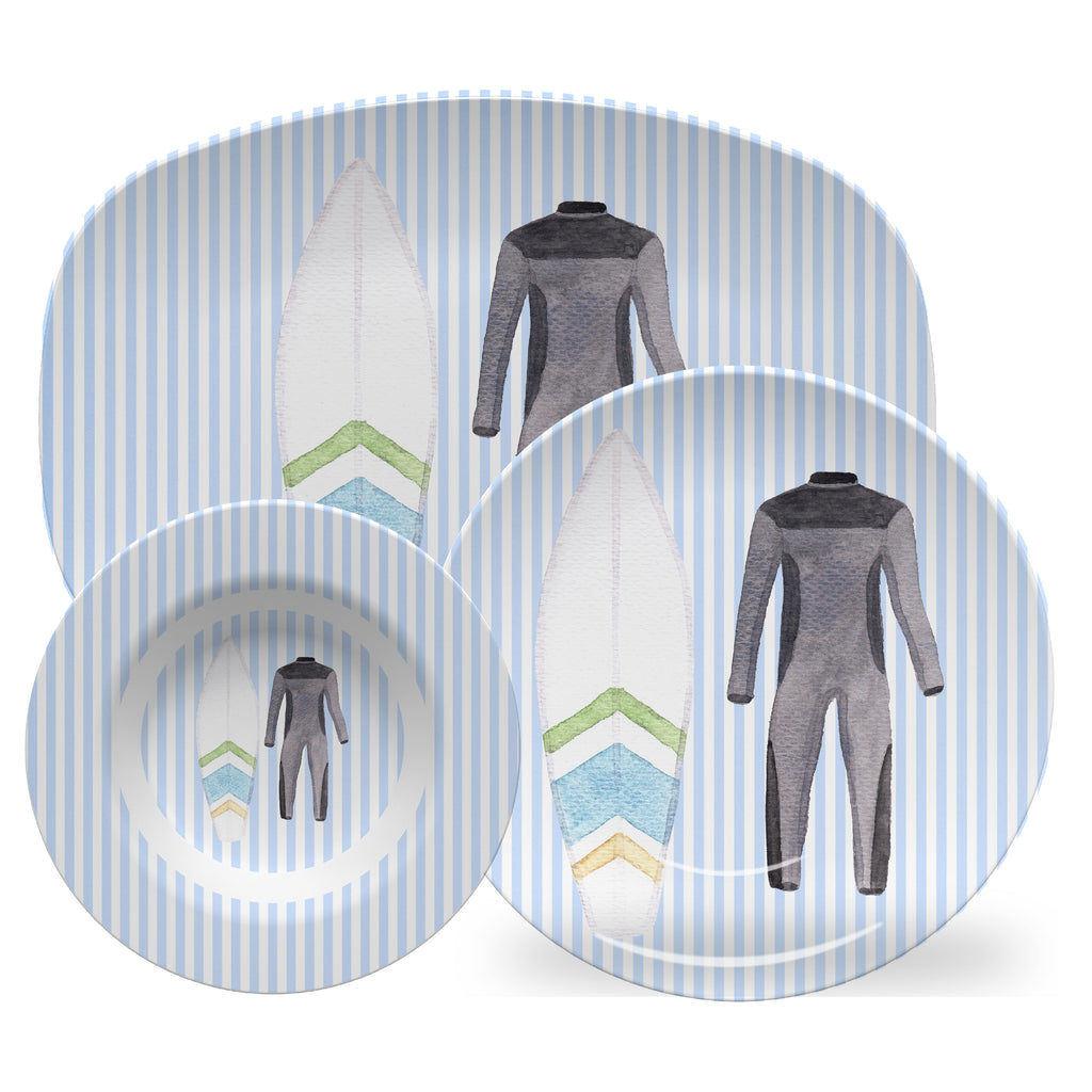 Luxury Surf's Up ThermoSāf® Plate, Platter And Bowl - Oven Safe, Microwave Safe, Dishwasher Safe, BPA Free!
