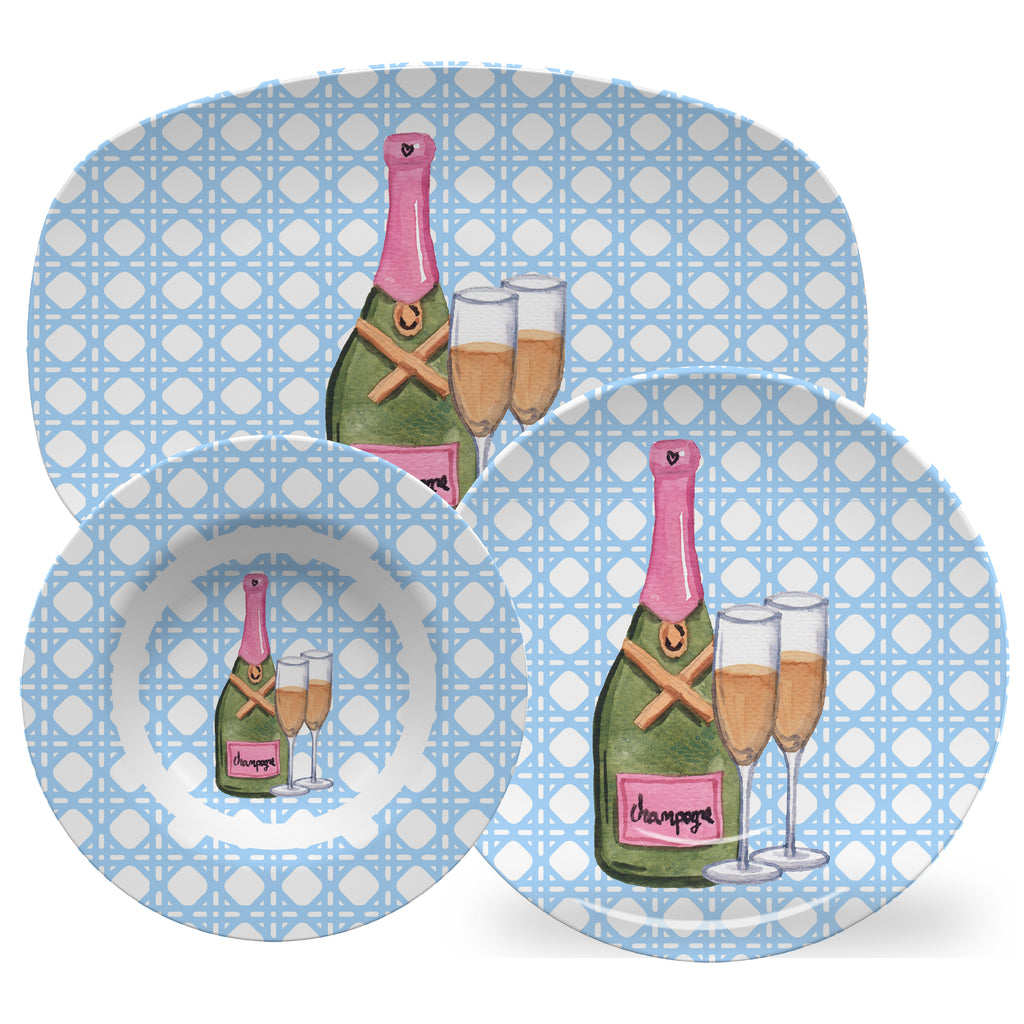 Luxury Cheers ThermoSāf® Plate, Platter And Bowl - Oven Safe, Microwave Safe, Dishwasher Safe, BPA Free!