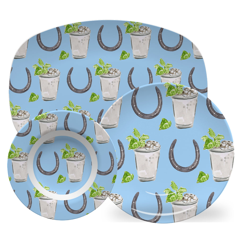 Luxury Horseshoes and Juleps ThermoSāf® Plate, Platter And Bowl - Oven Safe, Microwave Safe, Dishwasher Safe, BPA Free!