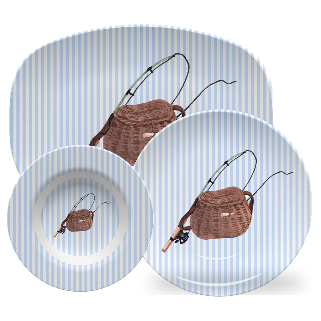 Luxury Reel Time ThermoSāf® Plate, Platter And Bowl - Oven Safe, Microwave Safe, Dishwasher Safe, BPA Free!