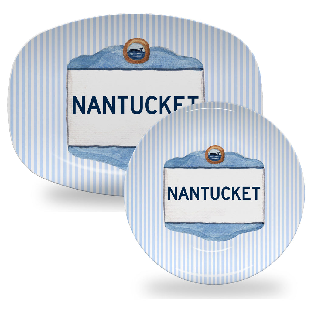 Luxury Nantucket Signs ThermoSāf® Plates - 20 Areas Available - Oven Safe, Microwave Safe, Dishwasher Safe, BPA Free!