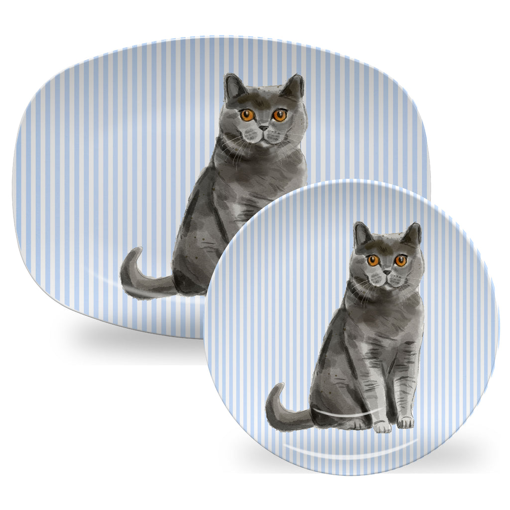 Luxury Choose Your Cat ThermoSāf® Plate, Platter And Bowl - Oven Safe, Microwave Safe, Dishwasher Safe, BPA Free!