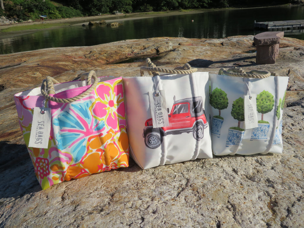 Sea Bags x The Muddy Dog Jeep Life Recycled Sail Tote