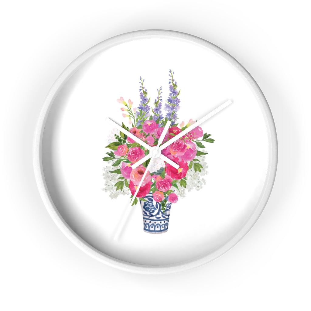 Ginger Jar Floral Wall Clock