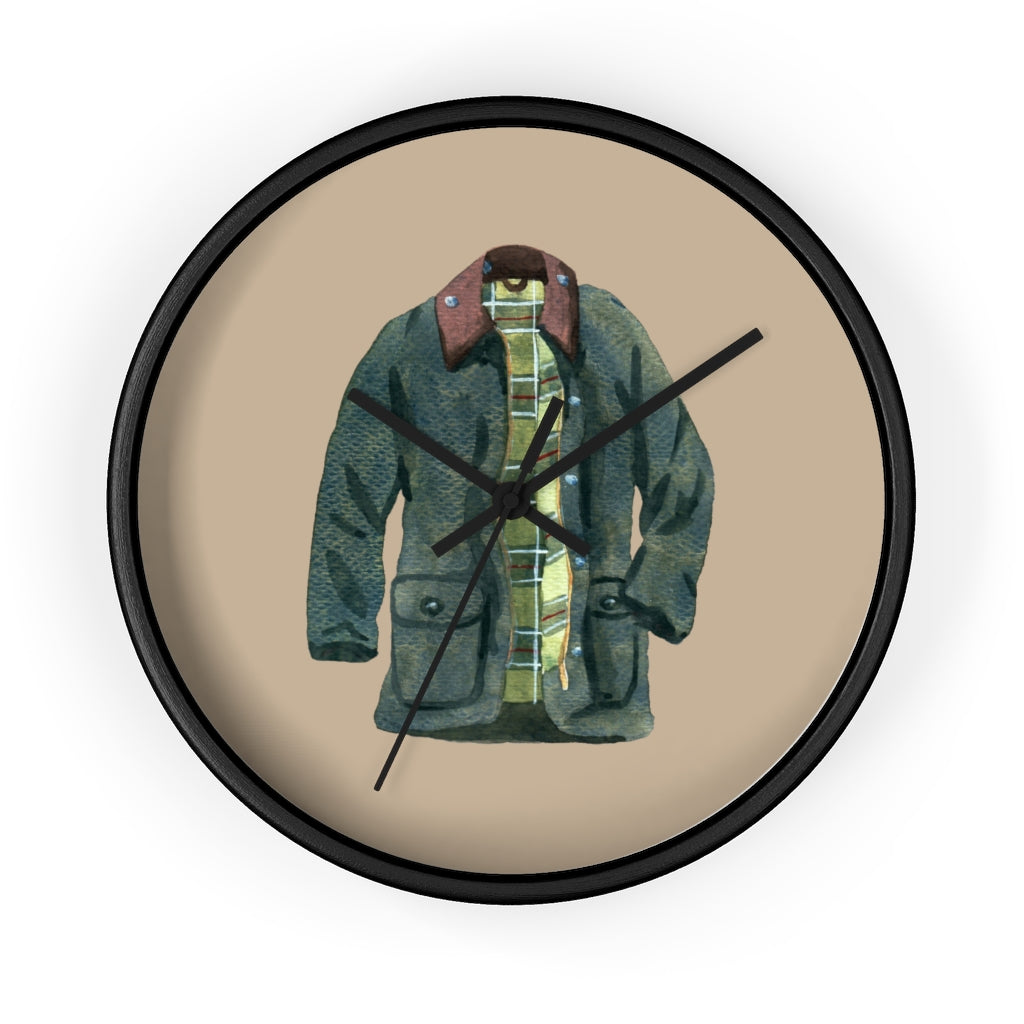Waxed Jacket Wall Clock