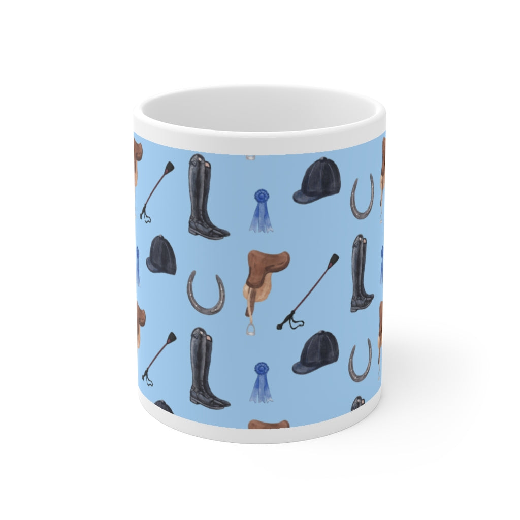 Blue Ribbon Ceramic Mug