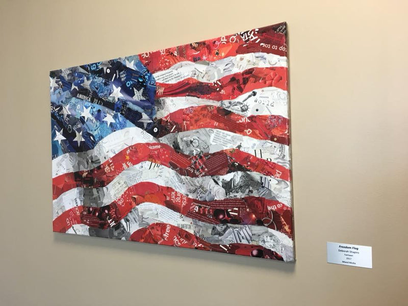 Freedom Flag Collage at Stark State Workforce Center in Akron
