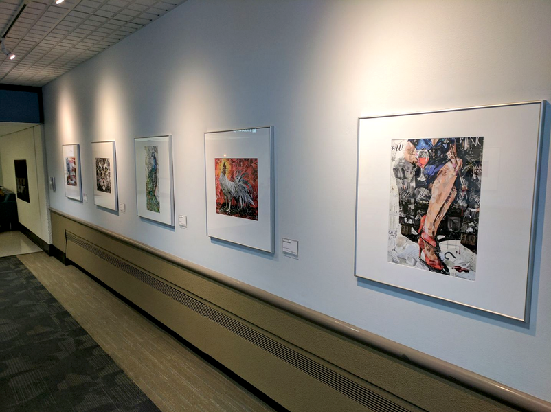 Collage art at Cleveland Hopkins International Airport
