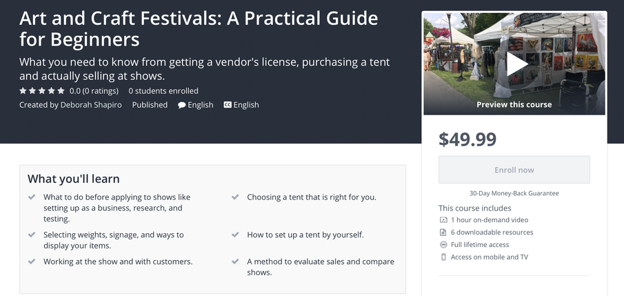 How to sell at Art and Craft Festivals