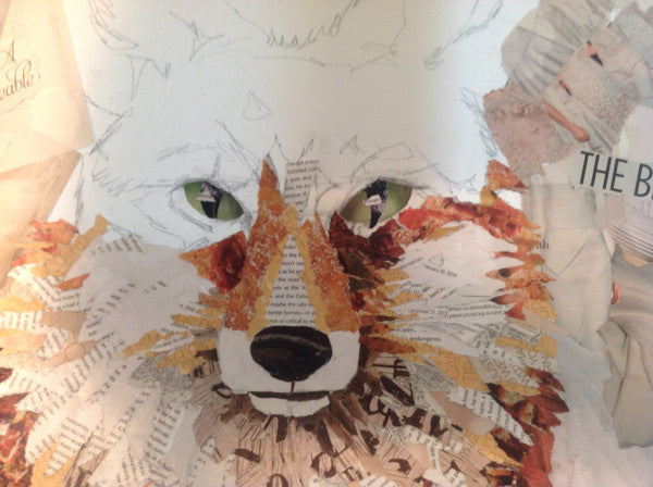 The Making of a Fox Collage