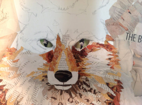 Fox face collage