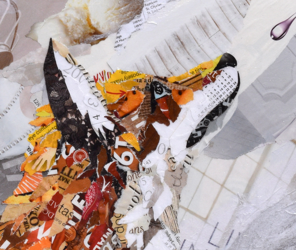 fox collage art