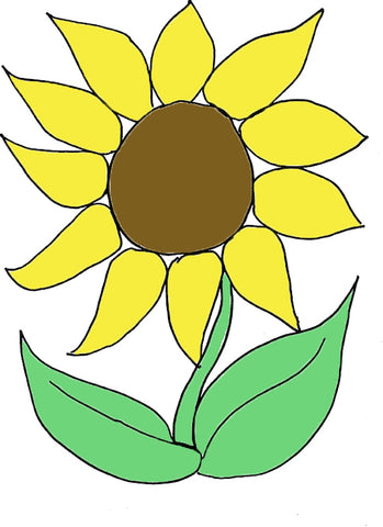 Kids Collage Sunflower Template